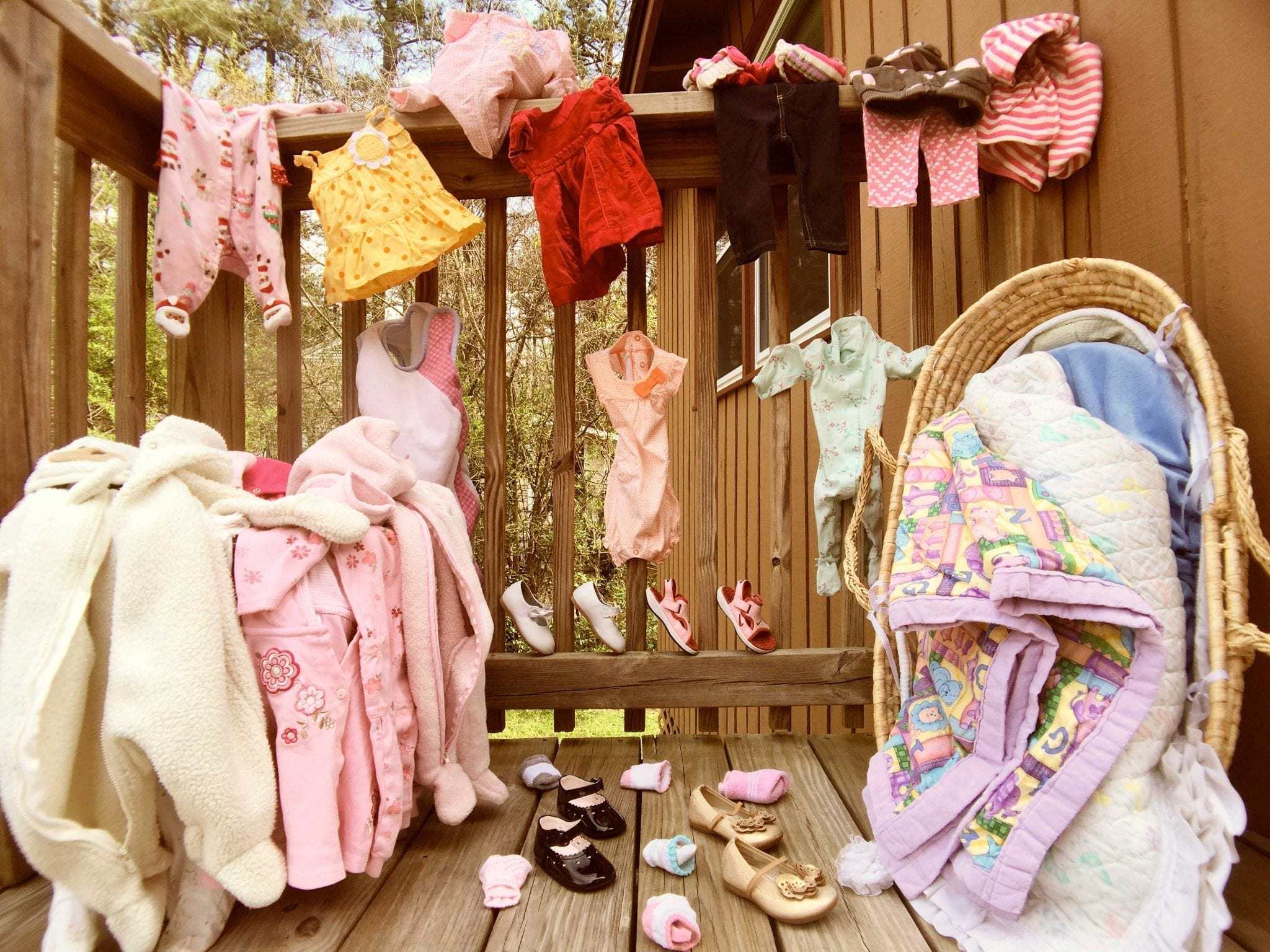 Secondhand Bassinet, Blankets, Summer & Winter Clothes, Pyjamas, Shoes and Socks -- and so many more not pictured!