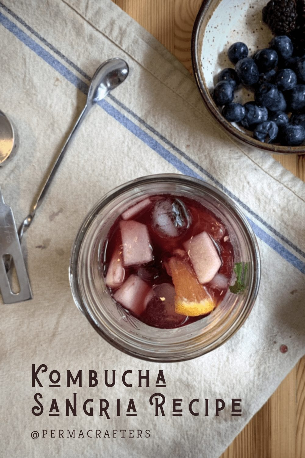 Kombucha Sangria Recipe | Homemade Cocktail Pinterest
